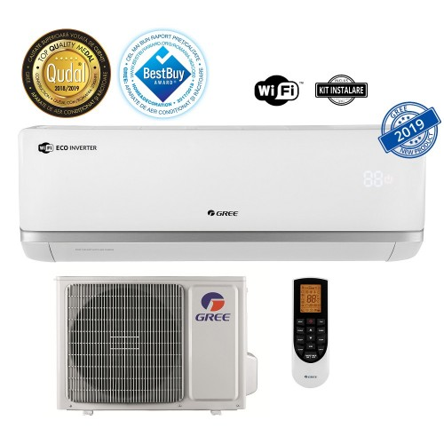 Aparat de aer conditionat Gree Bora A2 White GWH09AAB-K6DNA2A Inverter 9000 BTU